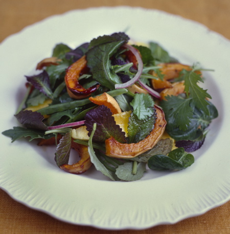 Roasted Butternut Squash Salad with Mango and Red Onion