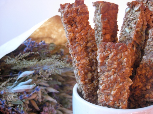 pumpkin oat crunch sticks