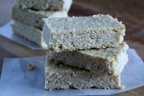 malted oat shortbread