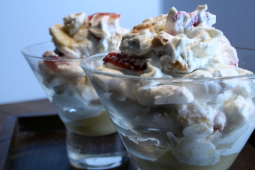strawberry banoffee mess