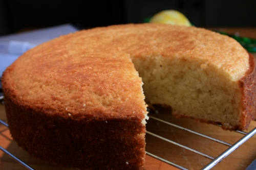 lemon cashew yogurt cake
