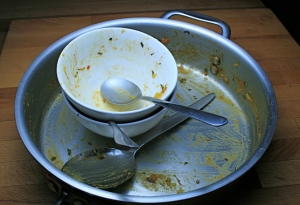 empty curry dish