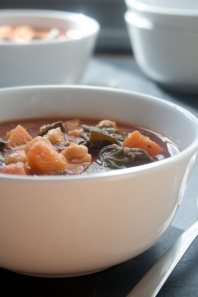 sweet potato chard & chickpea soup