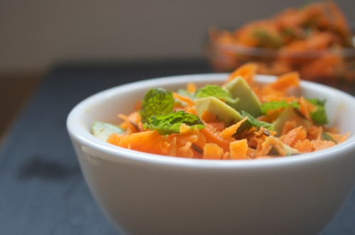 carrot avocado & cumin salad